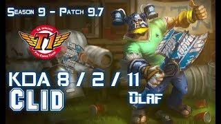 SKT T1 Clid OLAF vs REK'SAI Jungle - Patch 9.7 KR Ranked