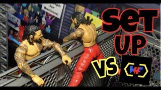 WWE Figure Set Up -Steel Cage