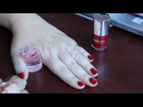 Nails Inc Kensington Caviar 45 Second Top Coat Review - YouTube