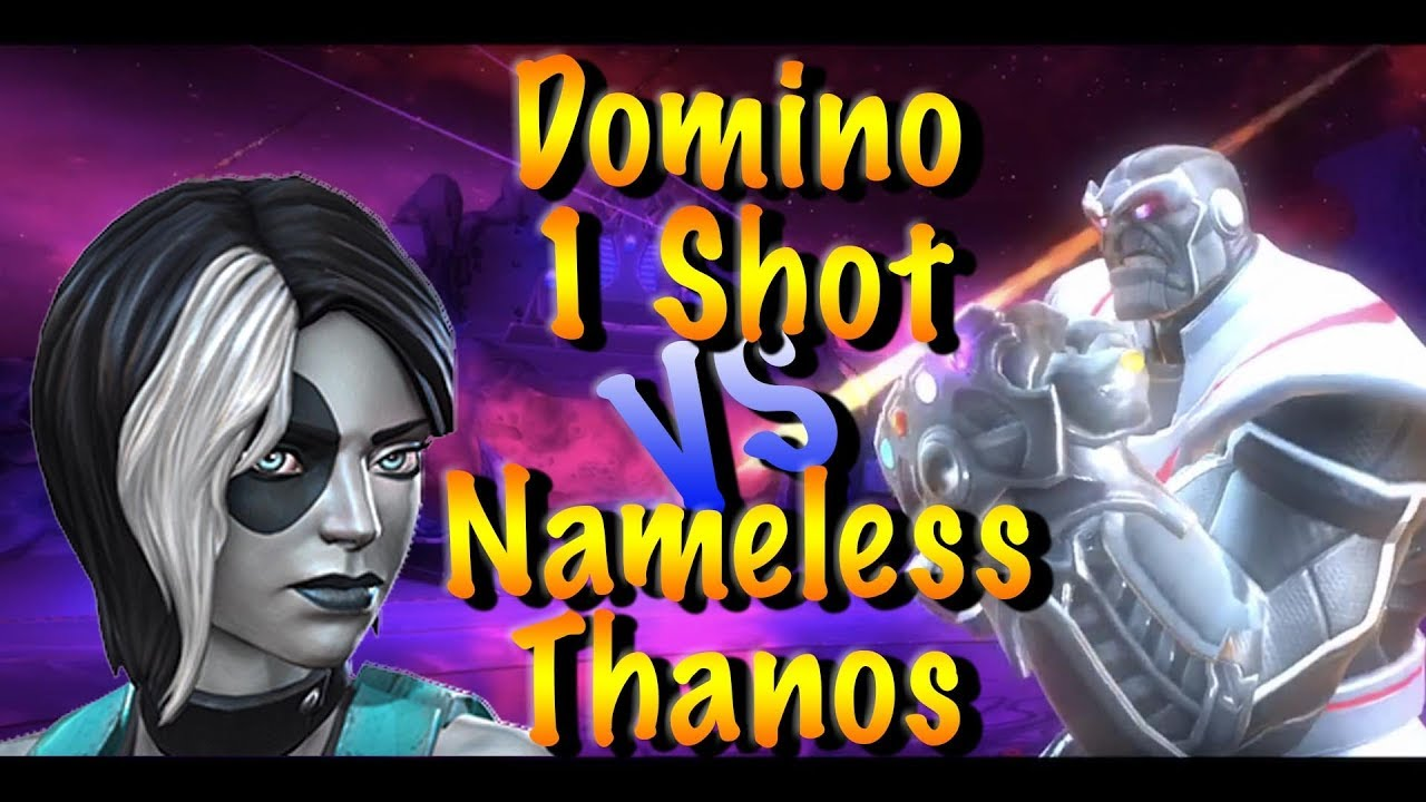 Domino 1 Shot vs Uncollected Nameless Thanos Marvel Contest of CHampions