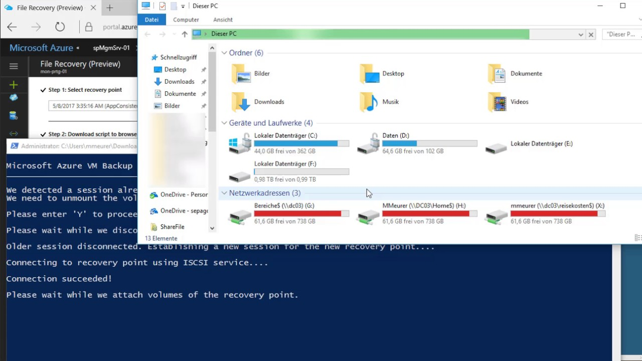 File Recovery from an VM Backup in Azure