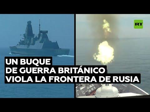 Rusia publica imágenes de la violación de su frontera por parte del destructor británico