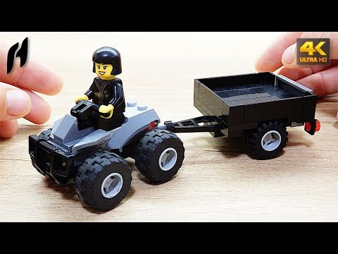 How To Build The Lego Quad With Trailer (MOC - 4K)