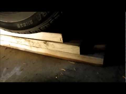 Cheap and quick DIY car ramps from wood boards when working on your car