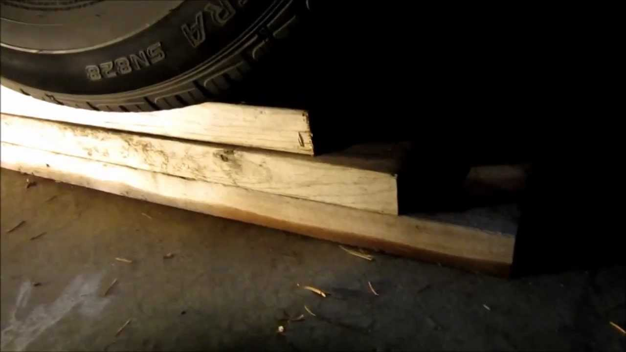 Cheap And Quick Diy Car Ramps From Wood Boards When Working On Your