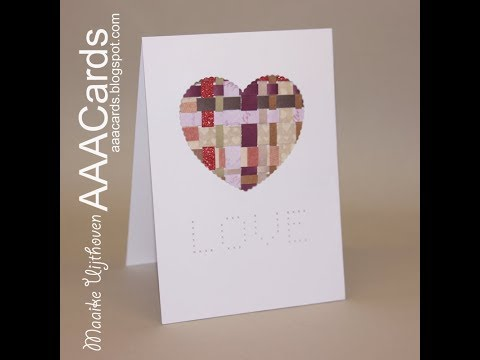 AAA cards challenge #106, new year's resolution: using scraps