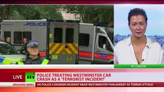 London Parliament incident: Crash treated as terrorist incident - Met police