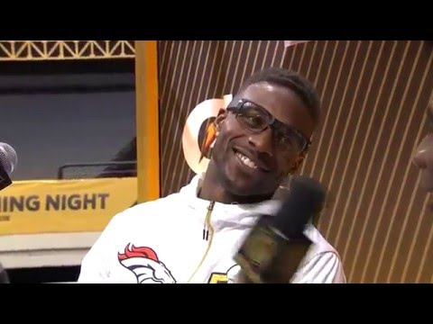 Emmanuel Sanders: I Want Super Bowl MVP | Super Bowl 50 Opening Night