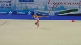 Ермолова Алина, мяч. Первенство России по гимнастике г,Казань 2014