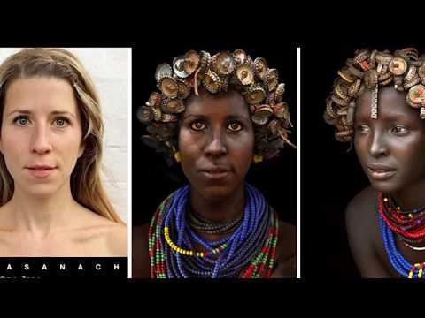 Удивительное перевоплощение белой женщины в женщин африканских племен!