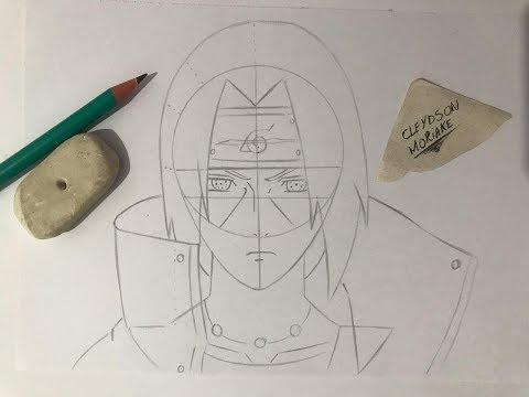 Como Desenhar Itachi Uchiha PASSO a PASSO Rapido e Facil  How To Draw Itachi Uchiha