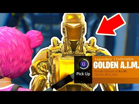 How To Get The GOLDEN A.I.M. Hunting Party Skin In Fortnite: Battle Royale *NEW* Easter Egg