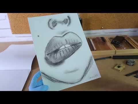 איך להגן על ציורי עיפרון, פחם ופסטל עם ספריי פיסקטיב