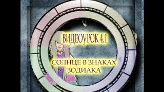 Видеоурок 4.1  Солнце в Знаках Зодиака.
