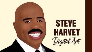 Steve harvey digital art (speed painting)   adobe photoshop