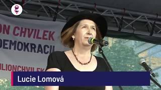 Demonstrace 5. 6. 2018 - Lucie Lomová