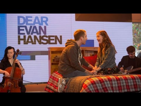 Ben Platt And Laura Dreyfuss Perform Only Us From Dear Evan Hansen On Today Youtube