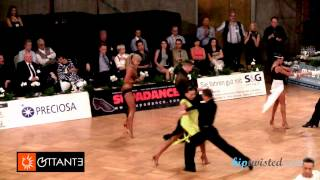 Miha Vodicar - Nadiya Bychkova, GOC Stuttgart 2014, WDSF Grand Slam latin, 3. round - paso doble