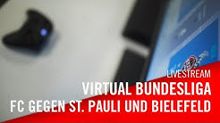 Livestream: FC St. Pauli  - 1. FC Köln | 1. FC Köln - Arminia Bielefeld | Virtuelle Bundesliga | VBL
