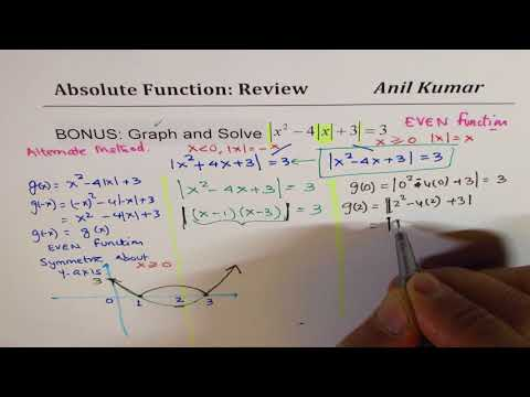 Nested Quadratic Absolute Function Equation