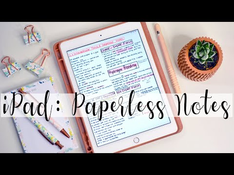 How I Take Notes On My iPad | NURSING SCHOOL PRE REQS WITH GOODNOTES