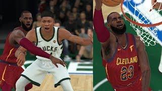 """NBA 2K18 Mycareer-""""KING"""" LeBron James vs Giannis Antetokounmpo(Part2)-Duel Monster!"""