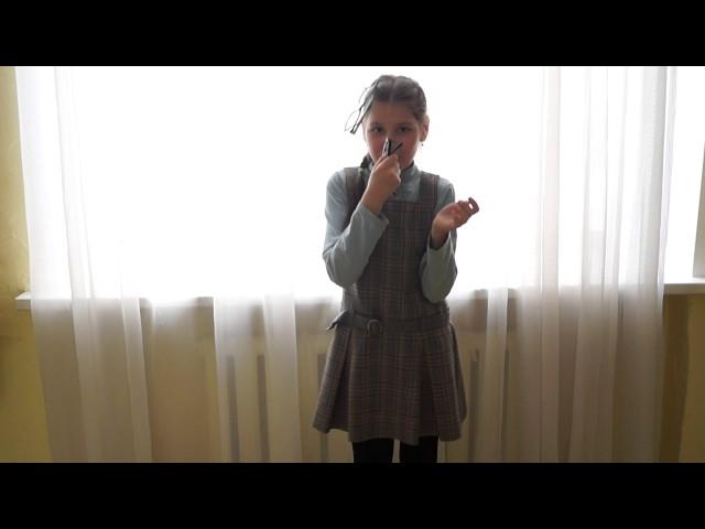Изображение предпросмотра прочтения – КристинаКедрова читает произведение «Мартышка и очки» И.А.Крылова