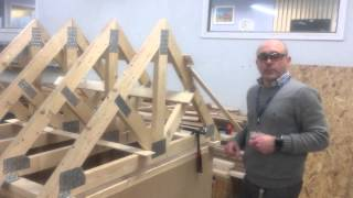 Erecting a roof Part 2 - Installing the trusses