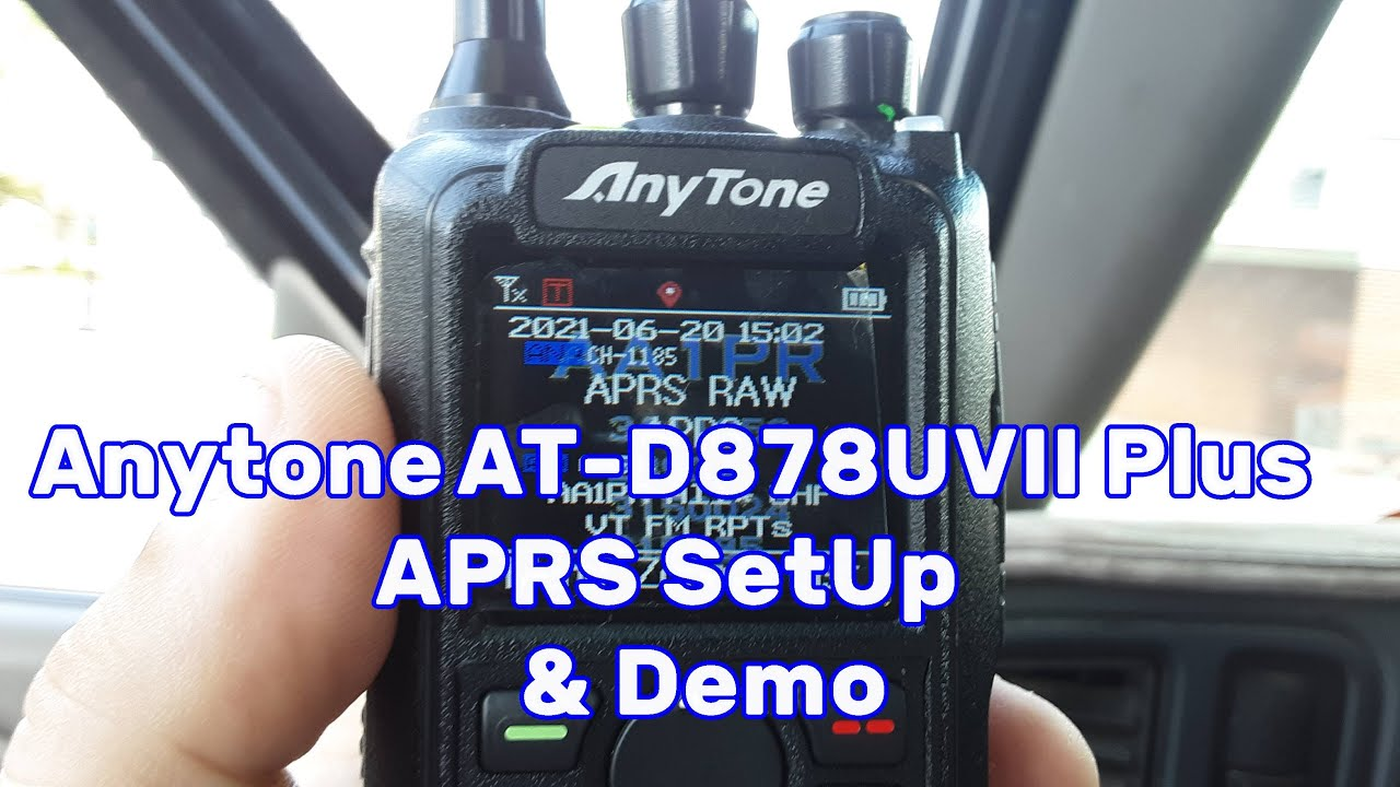 Download Anytone ATD878UVII Plus Analog and Digital APRS Setup and Demonstration