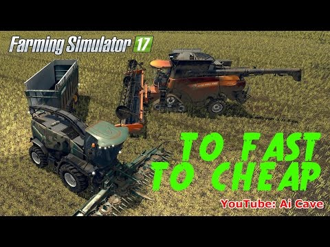 Farming Simulator 2017 TO FAST, TO CHEAP Mods - NEW HOLLAND Combine & FORAGE PACK