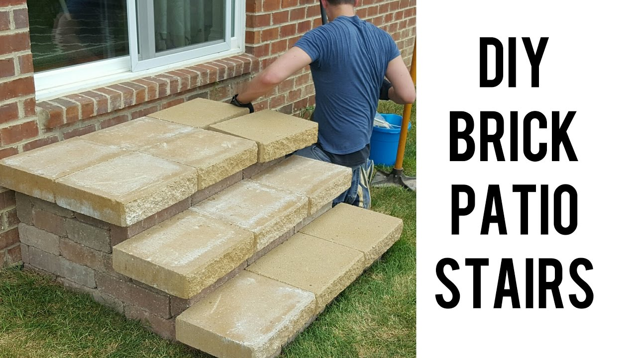 Diy Building Brick Patio Stairs You
