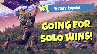 SOLOS & SOLO SQUADS PRACTICE! | Xbox One Fortnite Player - Making Improvements | Fortnite