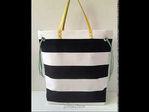 5ad9b869fab5 Как сшить пляжную сумку - YouTube