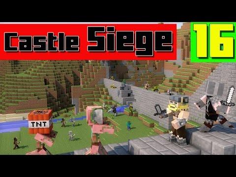 Mini-jeu Minecraft - CASTLE SIEGE - NOUVELLE MAP #16 - royleviking