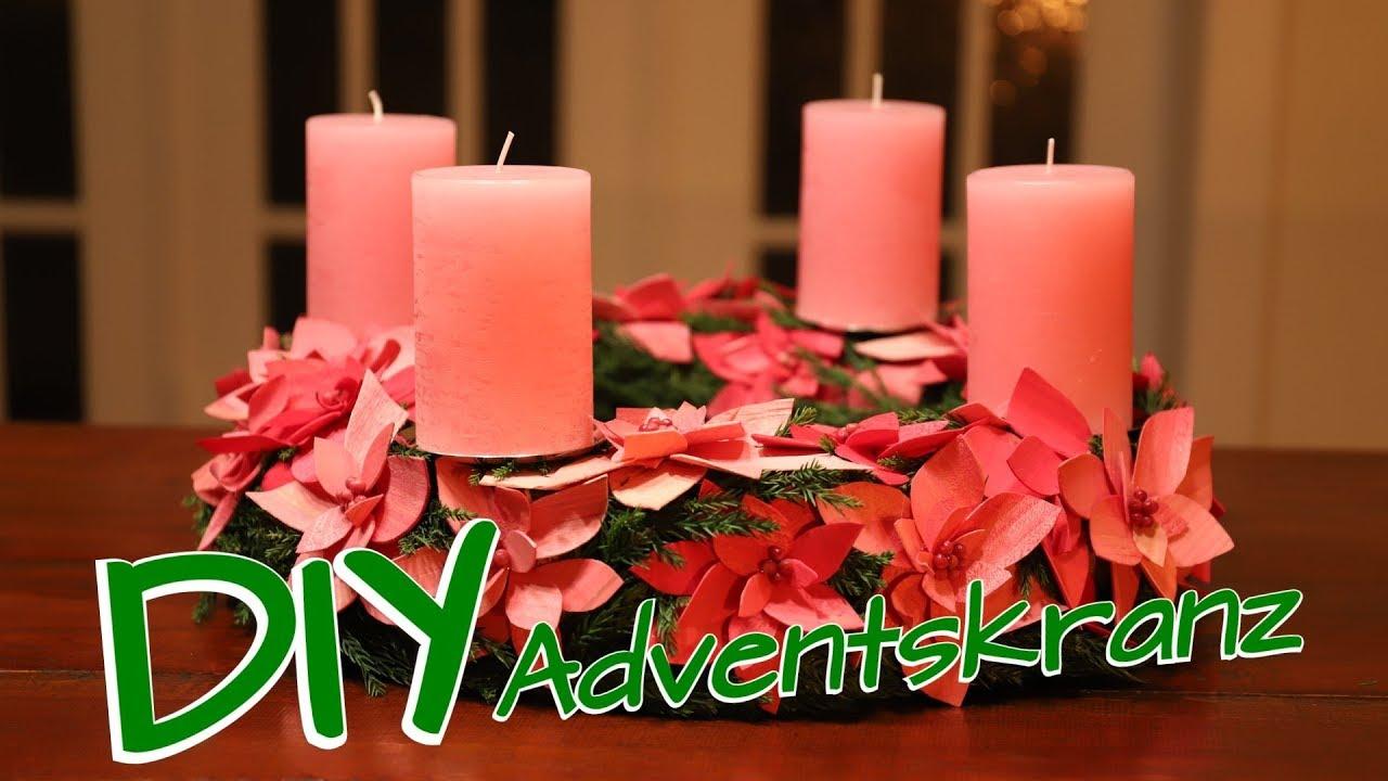 Weihnachtsdeko selber machen adventskranz diy youtube - Adventskranz selber machen youtube ...