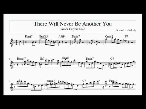 James Carter - There Will Never Be Another You Solo Transcription