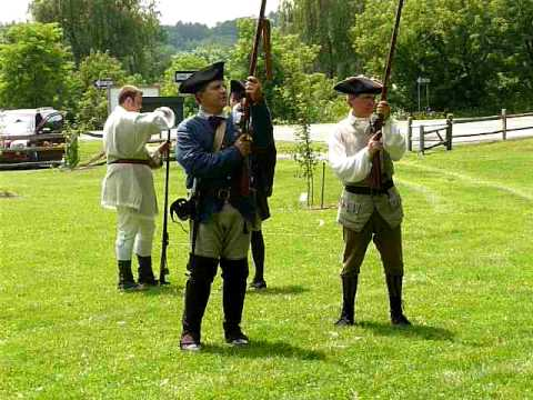 Firing Muskets at Fort Johnson