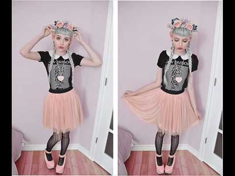 color fashion pastel goth youtube