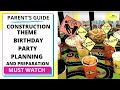 Construction Theme DIY Party Decorations | Game Idea | Birthday party ideas