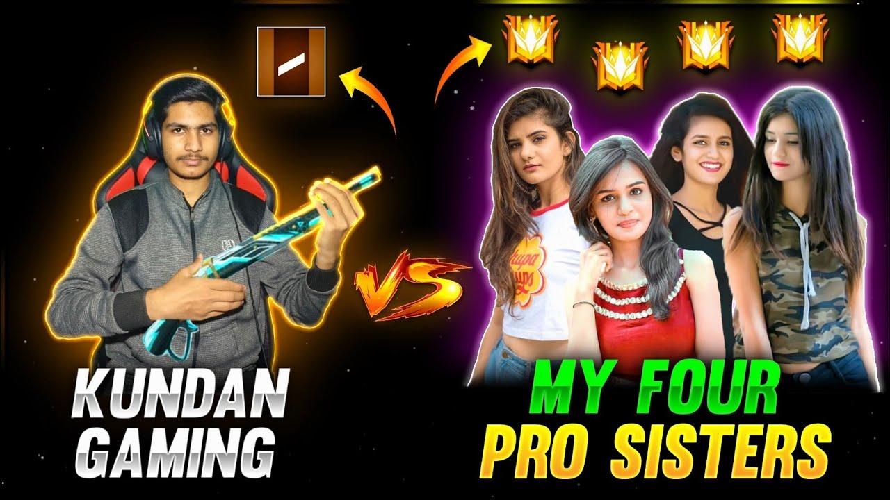 Download Me vs My Four Pro Sisters | 1 vs 4 Clash Squad Custom Adam vs 4 Grandmaster Girls - Garena Free Fire