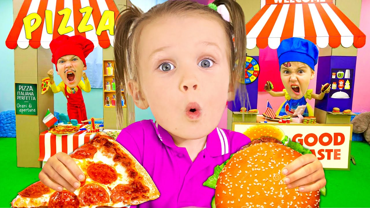 Five Kids Learning Pizza and Burger + more Children's Songs and Videos