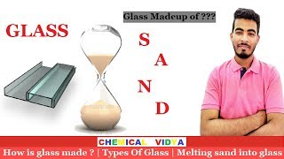 [HINDI] How is glass made from Sand...??? I Types Of Glass I Melting sand into glass.