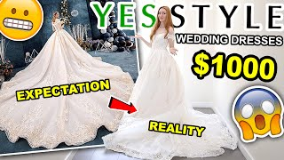 YESSTYLE WEDDING DRESS HAUL | TRYING ON CHEAP WEDDING DRESSES FROM YESSTYLE 2020