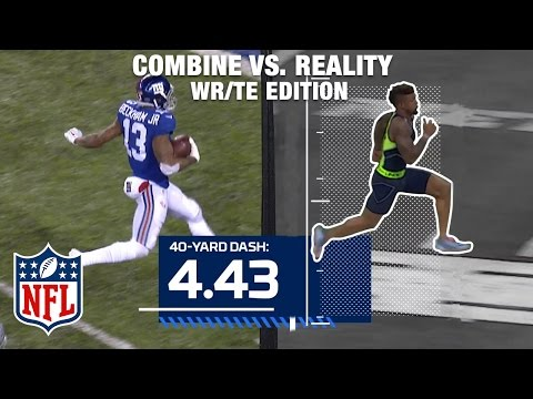 Combine Vs. Reality: Odell Beckham Jr., Megatron, Julio Jones, And Gronk | NFL Now