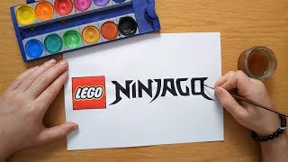How to draw the Lego Ninjago logo