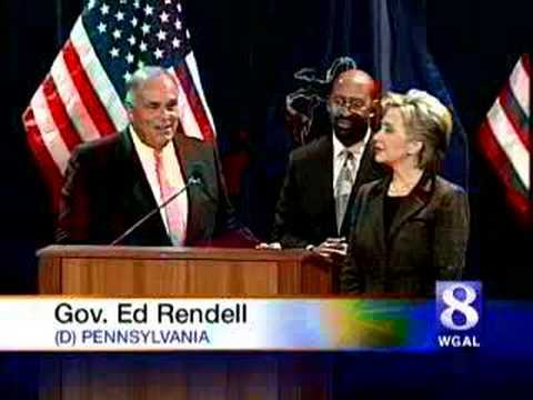 PA Governor Rendell endorses Hillary Clinton for President