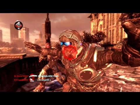 PSYCHOTIC RAGE ON PAVILION! (Gears of War 2)