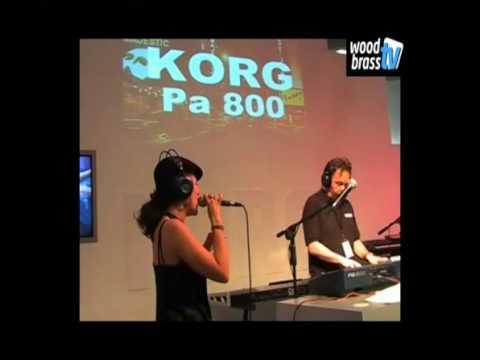 Demo korg pa-800, michel deutch,woodbrass,music instrument