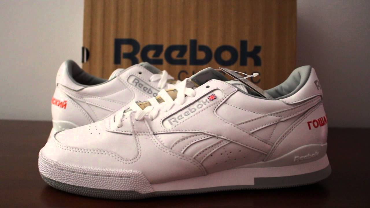 48da2bca608 REEBOK X GOSHA RUBCHINSKIY PHASE 1 PRO G WHITE REVIEW - YouTube