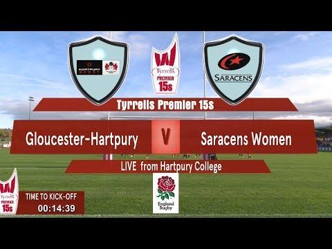 Tyrrell's Premier 15s Round 7 Match Live - Gloucester Hartpury Women's RFC v Saracens Women